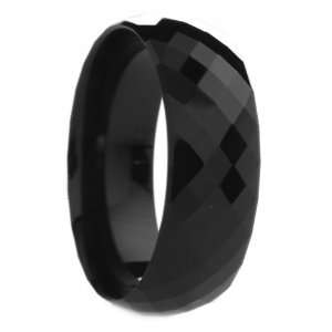 8 mm Mens Black Tungsten Carbide Rings Wedding Bands Multi