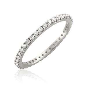 14k White Gold Diamond Eternity Band Ring (H, I1 I2, 0.50