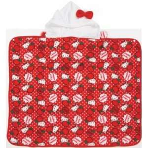Sanrio Hello Kitty Hooded Fleece Throw    Red Apple Kitty