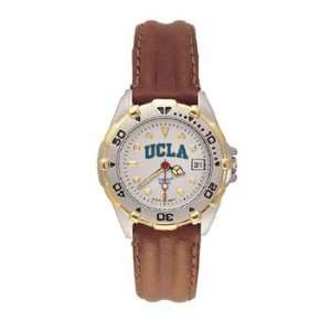 Bruins All Star Ladies Black Leather Strap Watch