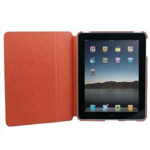 Orange Leather Kick Case Skin Stand Cover for iPad Cell