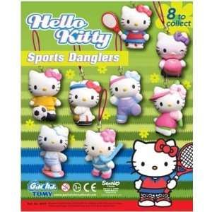 Hello Kitty Sports Danglers Phone Charm Figures Set of 8  Toys