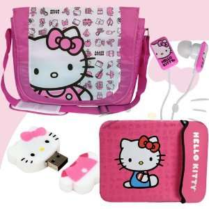 Hello Kitty 2 GB USB Flash Drive (Pink/White) #46009 + Hello Kitty In