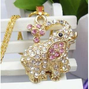 Elephant Style USB Flash Drive with Necklace(Pink) Electronics
