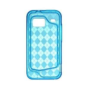 TPU Blue Checker HTC Droid Incredible ADR6300 Premium Cover Skin Case