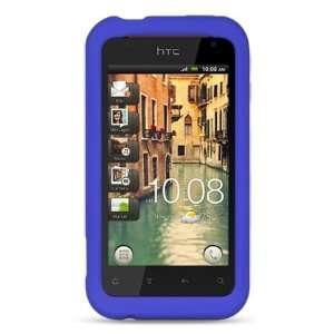 Skin Case 3 ITEM COMBO Blue Premium Soft Gel Rubber Silicone Skin Case