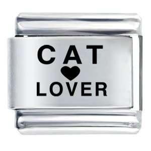 Cat Lover Heart Italian Charm Bracelet Pugster Jewelry