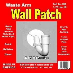 Plumbing Self Adhesive Wall Patch   1 3/4 I.D. X 5 1/2 O.D