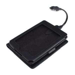 Leather Cover Case with LED Light for Kindle Touch Electronics