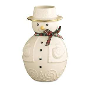Lenox Christmas Giftables Snowman 6 1/2 Inch Vase Home