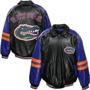 Florida Gators Black Faux Leather Varsity Jacket