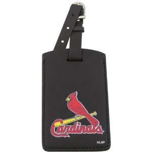MLB St. Louis Cardinals Black Leatherette Printed Logo Bag