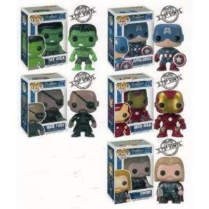 , Iron Man, Thor, Hulk, and Nick Fury  Toys & Games