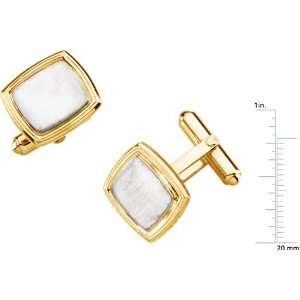 14 karat yellow gold Mens Cuff Links Diamond Designs Jewelry