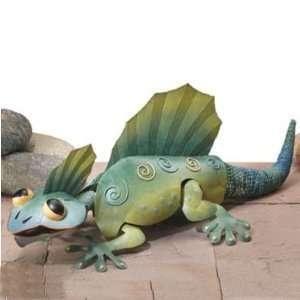 Sculpture Art in Handpainted 3D Metal   Southwestern Razorback Gecko
