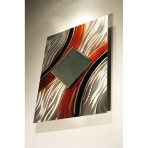 Abstract Metal Wall Mirror Art, Sculpture, Design by Wilmos Kovacs