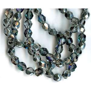 Glass Beads   Silver   Blue Crystal Faceted Arts, Crafts & Sewing