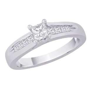 Gold 1/2 ct. Princess Cut Diamond Engagement Ring Katarina Jewelry