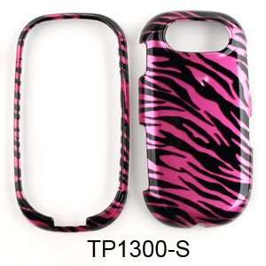 Pantech Ease P2020 Transparent Design, Hot Pink Zebra Print Hard Case