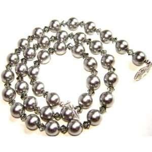 Silver Swarovski Crystal/Pearl Necklace   18 Arts, Crafts & Sewing