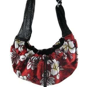 Sling Pet Carrier   Red & White Hawaiian