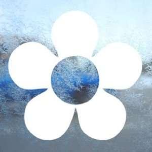 Hippie Flower Power Floral White Decal Window White