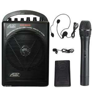 hl Battery Powered Dual Channel Wireless Microphone Portable Pa System