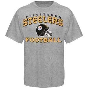 Reebok Pittsburgh Steelers Youth Ash Stacked Helmet T