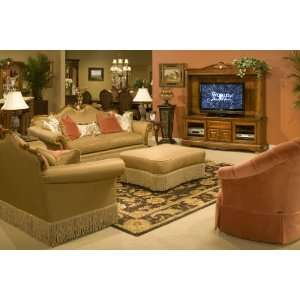 Aico Eden Living Room 3 PC Wood Trim Camelback Sofa Chair Loveseat