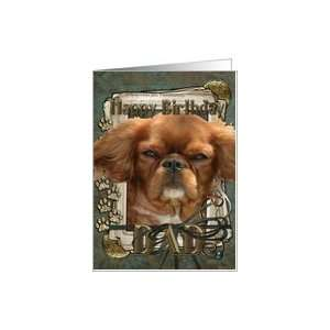 Birthday Dad   Cavalier King Charles Spaniel   Ruby   Stone Paws Card