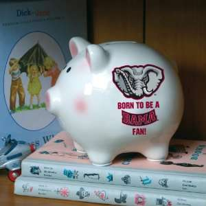 Pack of 3 NCAA Born To Be A Bama Fan Piggy Banks  Sports