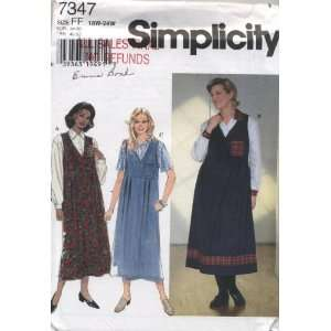 Simplicity Blouse and Jumper Sewing Pattern # 7347: Arts