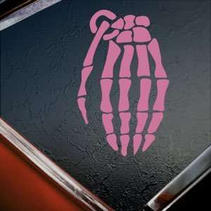 Grenade Pink Decal Snowboard Glove Truck Window Pink