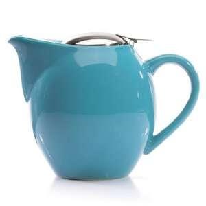 Blue Glazed Ceramic Teapot I Pot Tea Pot 40 oz