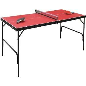 Spartan Portable Mini Table Tennis   Red  Sports