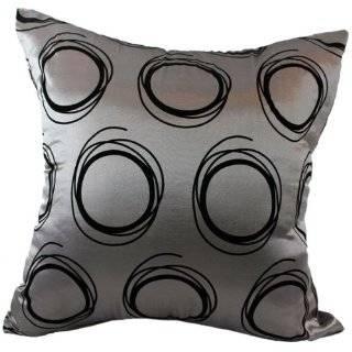 Circles 16x16 Decorative Silk Throw Pillow Cover