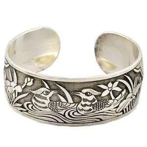 Tibetan Silver Two Birds Bracelet