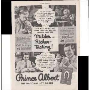 Prince Albert Crimp Cut Tobacco 1943 Smoking Vintage