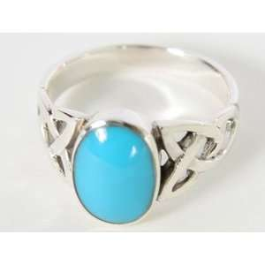 Silver Turquoise Fashion Band Ring Size 9 jpwjewelry Jewelry