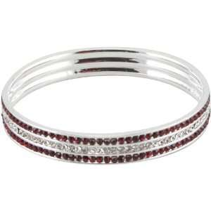 NCAA Alabama Crimson Tide 3 Row Bangle Bracelet