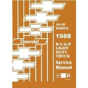 1988 Chevy GMC R/V G P Suburban Van Shop Service Manual Automotive