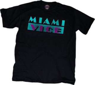 Miami Vice T shirt Black Clothing