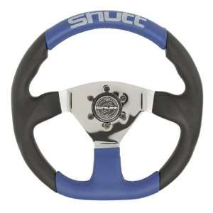 Blue Center Brushed S Racing Steering Wheel Automotive