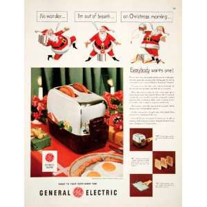 1951 Ad Automatic Toaster General Electric Christmas Santa