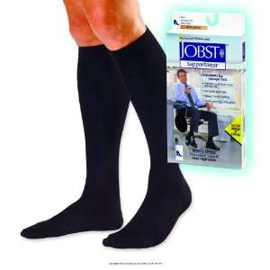 Jobst for Men Dress Socks, 8   15 mmHg, Dress Mens Over Clf Sm Blk  Ns