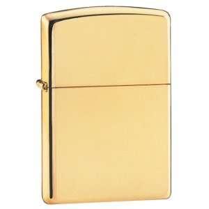 Zippo   High Polish Gold Plated Lighter