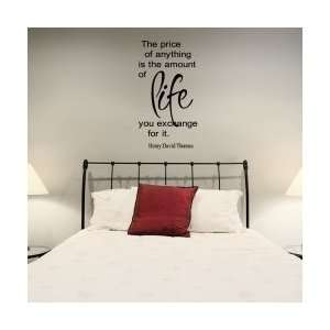 The Price Of Anything Is The Amount Wall Art Decal