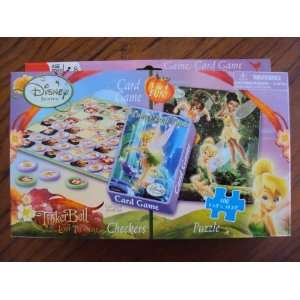 Disney Fairies TinkerBell and The Lost Treasure Checkers