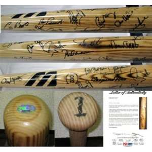 1990s Baseball Tour of Japan Signed Bat 21 Sigs PSA LOA   Autographed