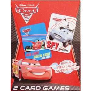 Pixar Cars 2 Card Games (Red Light, Green Light & Spy) Toys & Games
